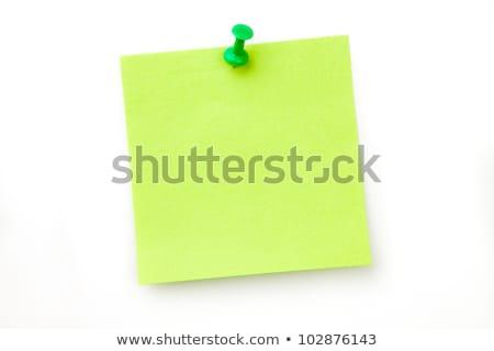 Karteczki biały pióro notebooka Uwaga zauważa Zdjęcia stock © wavebreak_media