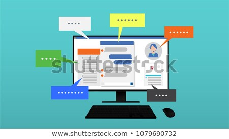 keyboard with live chat button stock photo © tashatuvango