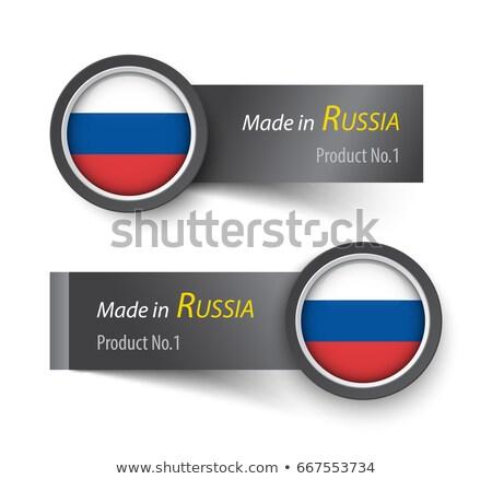 Rusia bandera papel círculo sombra botón Foto stock © gubh83