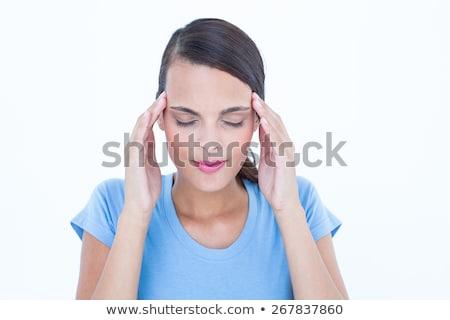 若い女性 · ボディ · フィットネス · 女性 · 立って · 頭痛 - ストックフォト © wavebreak_media