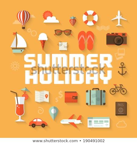 Plane Ticket for Summer Holiday Stock photo © luminastock