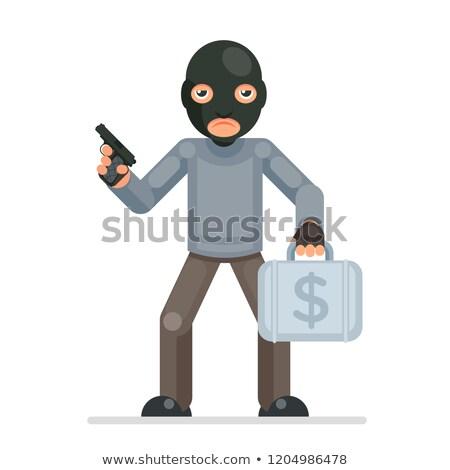 Gewapend diefstal toevallig man zakenman witte Stockfoto © tiero