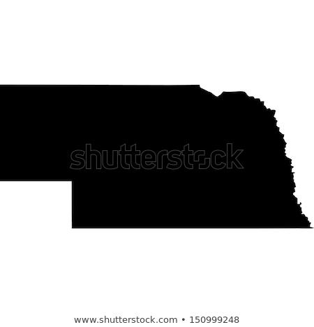 Térkép Nebraska kék utazás Amerika USA Stock fotó © rbiedermann