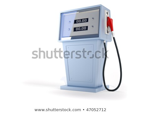 Gas Pump Over White Stock photo © idesign
