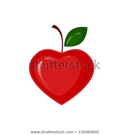 wet · roten · Apfel · voll · alten · Holzbrett · Essen - stock foto © alexmillos