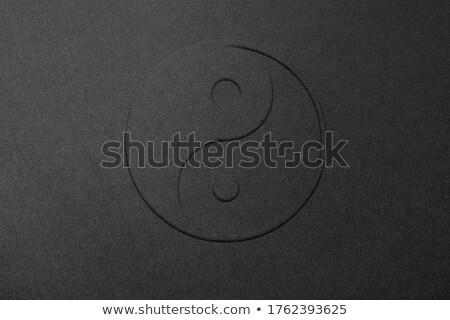 Ikon fém keret illusztráció absztrakt felirat Stock fotó © unkreatives