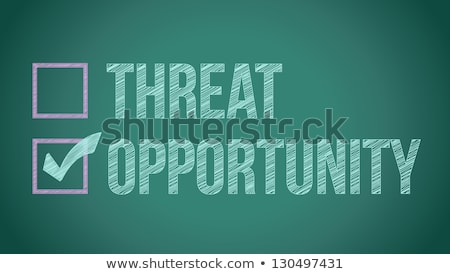 opportunity vs threat illustration design on a blackboard Stock photo © alexmillos