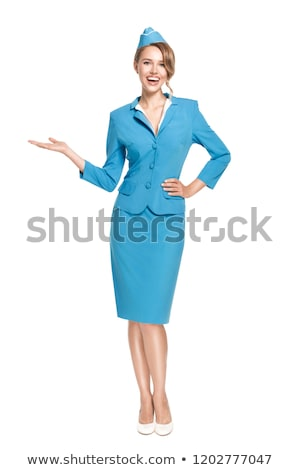 Young flight attendant isolated on the white Stock photo © Elnur
