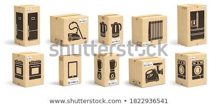interior · máquina · de · lavar · roupa · dentro · casa · casa · tecnologia - foto stock © ava