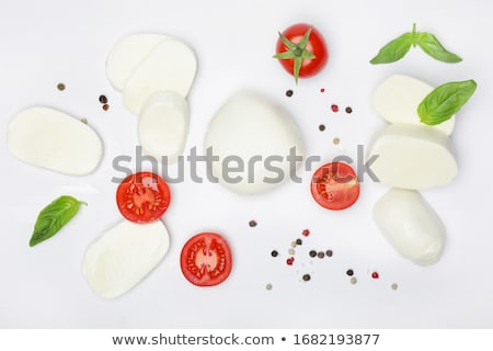 Rebanadas tomate mozzarella pimienta aceite de oliva menta Foto stock © raphotos