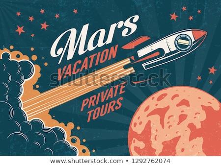 Retro rocket on Mars Stock photo © paulfleet