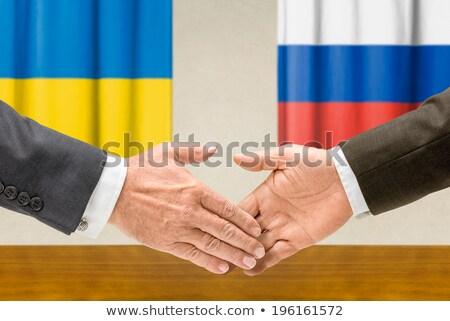 Украина Россия руками бизнеса рук успех Сток-фото © Zerbor