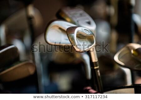 Primo piano sacca da golf erba verde club bag Foto d'archivio © mikdam