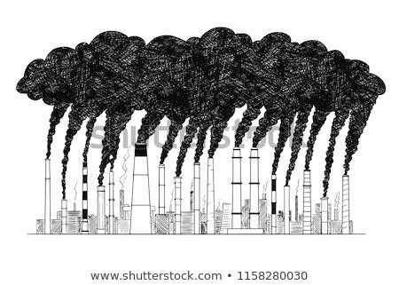 Duman dışarı endüstriyel baca sanayi hava Stok fotoğraf © Bumerizz