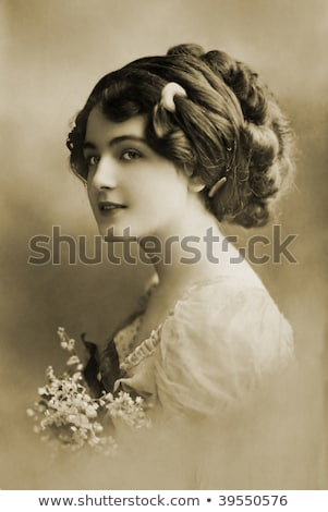 vintage photo of gentle woman stock photo © anna_om