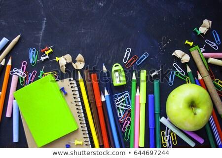 学校 紙 白 ペン 学生 ストックフォト © Studio_3321