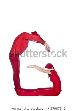 Elfs forming the letter 'G' Stock photo © gemenacom