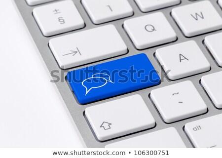 Kalma düğme bilgisayar klavye modern kelime ortaklar Stok fotoğraf © tashatuvango
