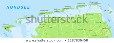 Map of Langeoog Stock photo © rbiedermann