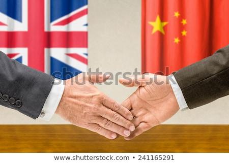 Foto d'archivio: Cina · stringere · la · mano · business · mani · successo · paese