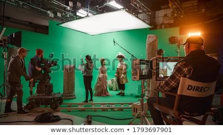 personnes · cinéma · regarder · film · enfant · design - photo stock © serebrov