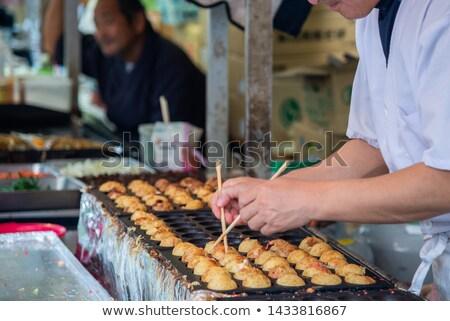 The making of Takoyaki in Osaka  Stock photo © tang90246