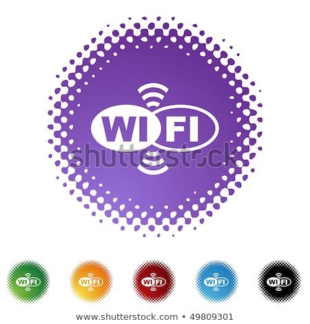 Wifi circular vector púrpura botón Foto stock © rizwanali3d