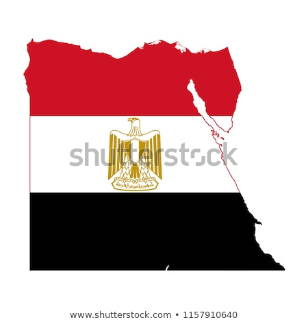 egypt flag map Stock photo © tony4urban
