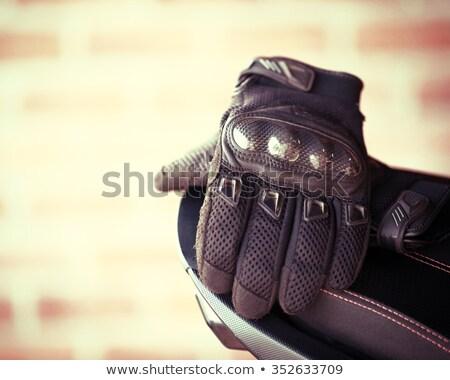 кожа мотоцикл перчатки защиту гонка Сток-фото © ozaiachin