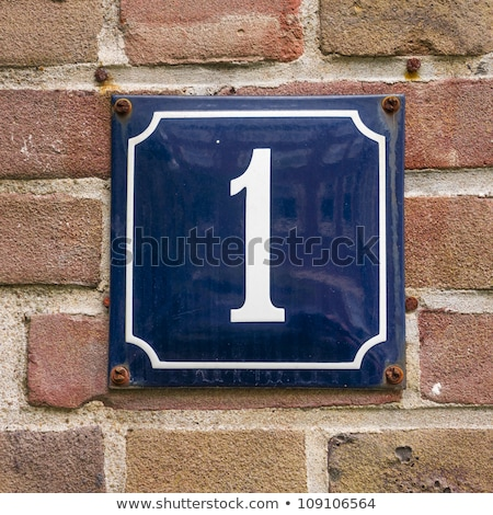 The number one on a brick wall Stock photo © BarbaraNeveu