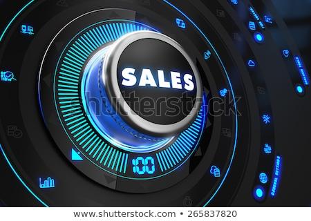Eladó fekete irányítás konzol kék háttérvilágítás Stock fotó © tashatuvango