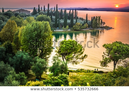 sunset over the lake Garda Stock photo © master1305