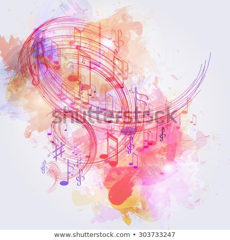 красивой музыку вектора вечеринка аннотация тело Сток-фото © Pinnacleanimates