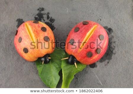 Ladybird on ripe apple Stock photo © saransk
