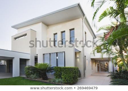 Modern ház fényes nyár nap égbolt Stock fotó © Elnur