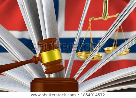 A gavel and a law book - Norway Stock photo © Zerbor