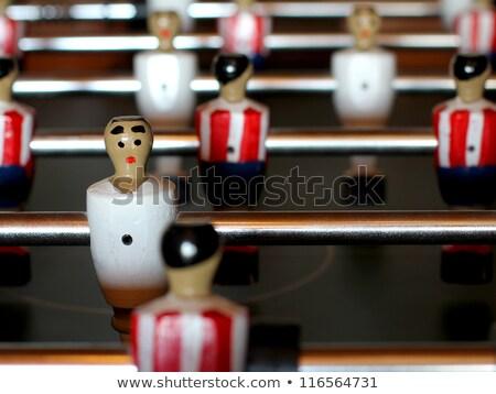 Klasszikus asztal labdarúgó alkat rúg labda Stock fotó © stevanovicigor