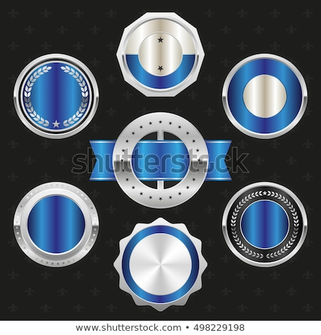 Warranty Guarantee Seal Blue Vector Button Icon Design Set Stock photo © rizwanali3d