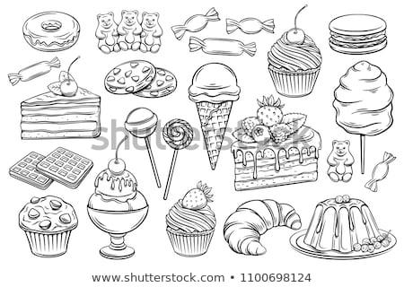 spiraal · lolly · schets · icon · vector · geïsoleerd - stockfoto © rastudio