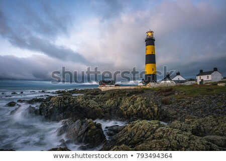 Foto stock: Lighthouse St Johns Point County Down Northern Ireland