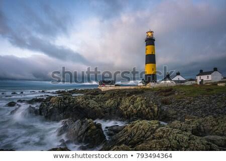 灯台 · ポイント · アイルランド · 建物 · 光 · 海 - ストックフォト © phbcz