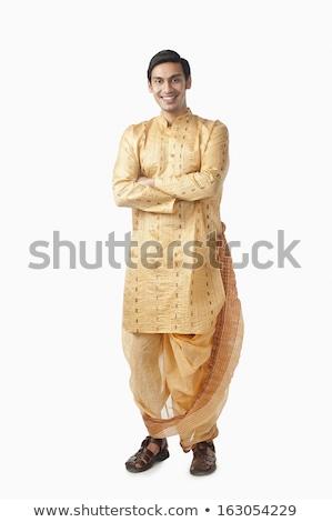 Férfi mosolyog portré boldogság 20-as évek fiatal felnőtt Stock fotó © imagedb