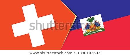 Svizzera Haiti bandiere puzzle isolato bianco Foto d'archivio © Istanbul2009
