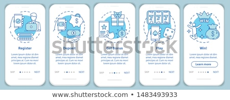 бонус синий вектора икона дизайна цифровой Сток-фото © rizwanali3d