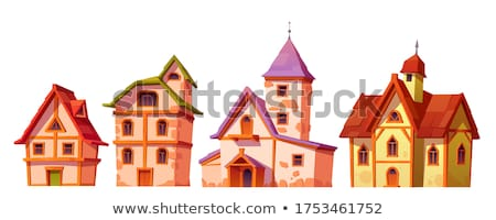 Roof of old wooden hotel Stock photo © BSANI