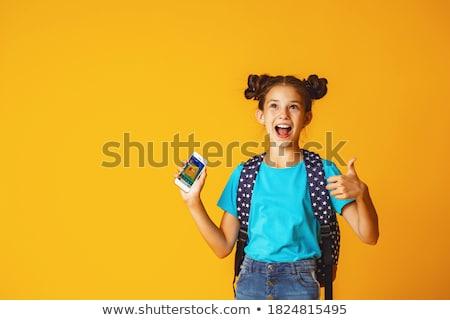 10 éves lány portré stúdiófelvétel szem arc Stock fotó © igabriela