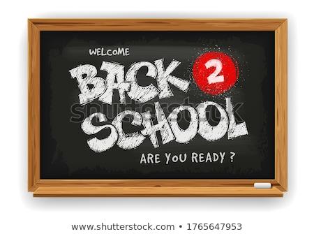 Atrás escuela marco alfabeto bloques Foto stock © 3mc