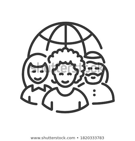 Korektor line ikona internetowych komórkowych infografiki Zdjęcia stock © RAStudio
