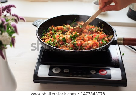 Portable induction cooktop Stock photo © magraphics