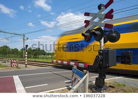ferrovia · cascalho · trem · futuro · aço · maneira - foto stock © ultrapro